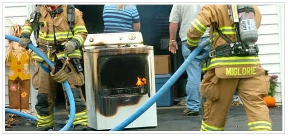Reduce Dryer Fire Hazard - prevent crushed hose which creates lint